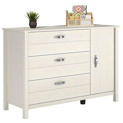 Morgan Ivory 3-Drawer and 1-Door Dresser