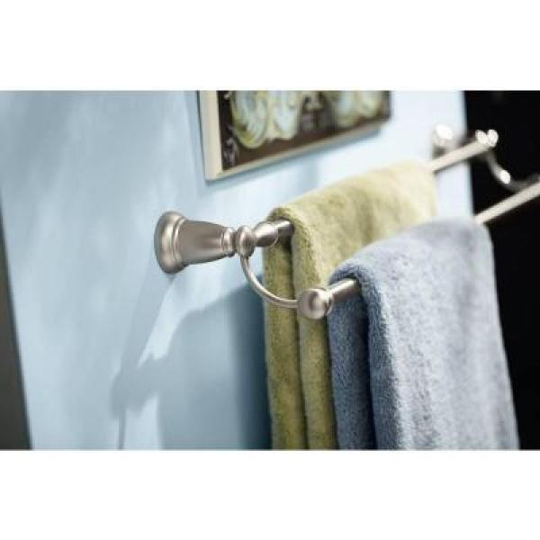 Banbury 24 in. Double Towel Bar in Spot Resist Brushed Nickel