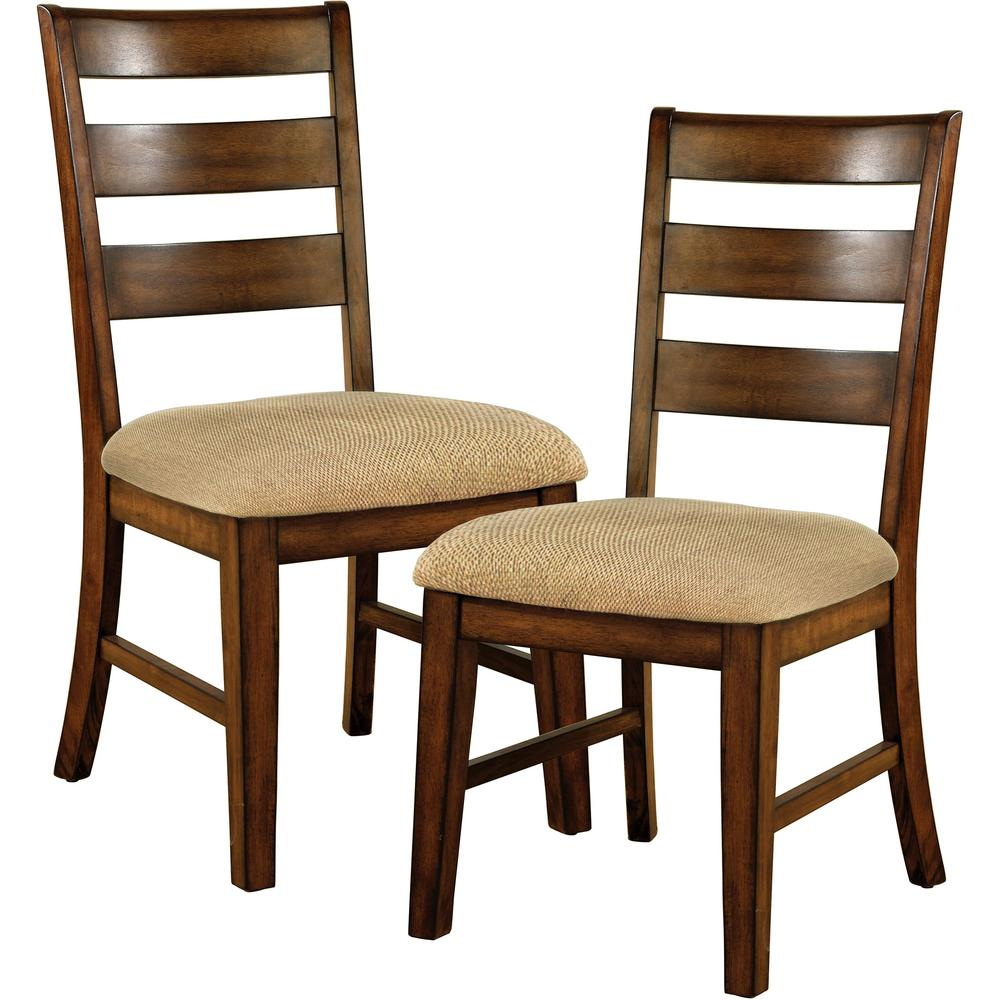 Venetian Worldwide Priscilla I Antique Oak Dining Chair (Set of 2) - Venetian Worldwide Priscilla I Antique Oak Dining Chair (Set Of 2
