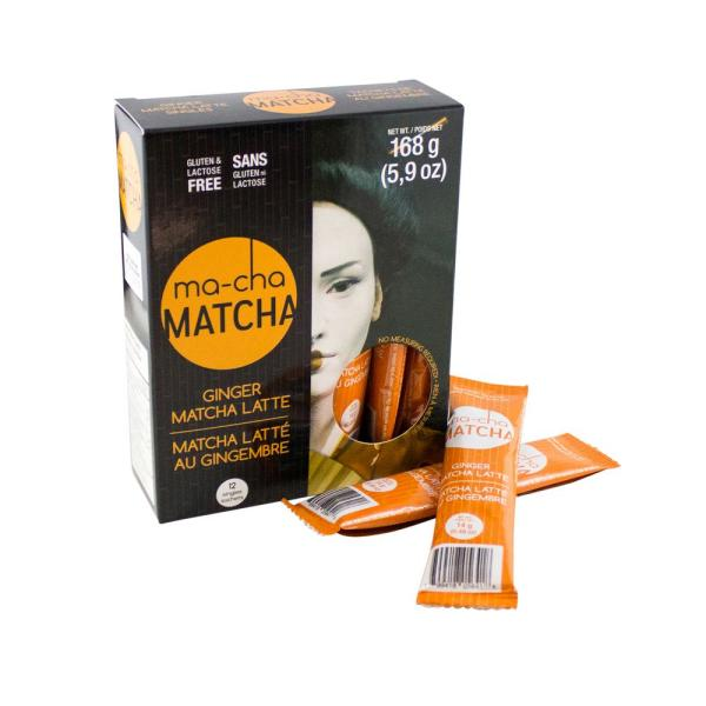MA-CHA Latte Sticks Ginger Tea (6 Bags)