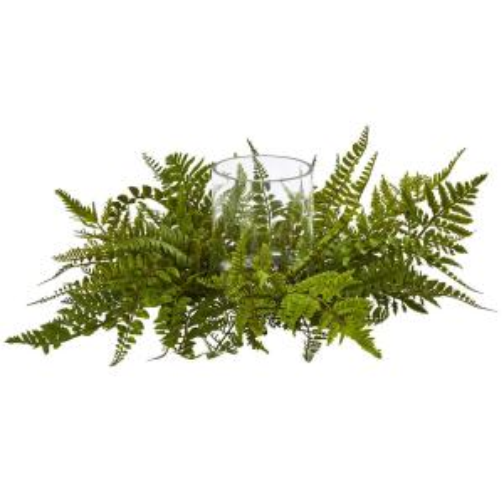 15 in. h green pothos ledge plant (set on foam) silk plant-6708