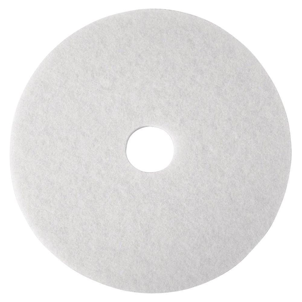 20 in. White SuPer Polish Pads (5 Per Carton)