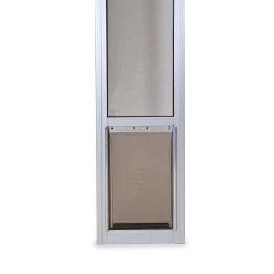 8-1/4 in. x 13-3/16 in. Medium Satin Freedom Patio Panel (76 in. to 81 in.) Pet Door