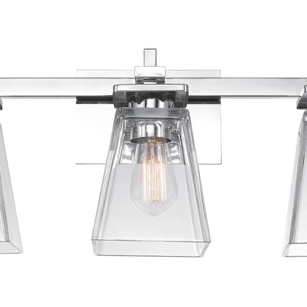 Yorke 5-Piece Chrome All-In-One Vanity Light Set
