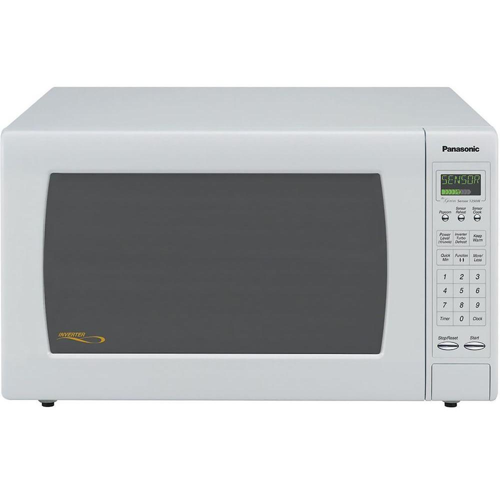 Panasonic Full-Size 1.6 cu. ft. 1250 Watt Microwave Oven in White