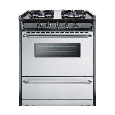 30 in. 3.7 cu. ft. Gas Range in Stainless Steel