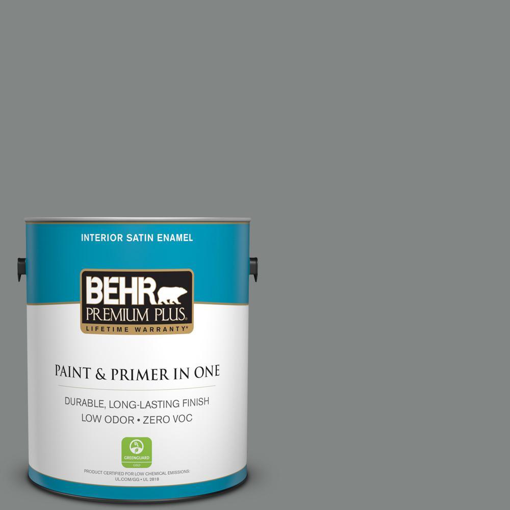 1 gal. #PPU25-17 Euro Gray Satin Enamel Zero VOC Interior Paint