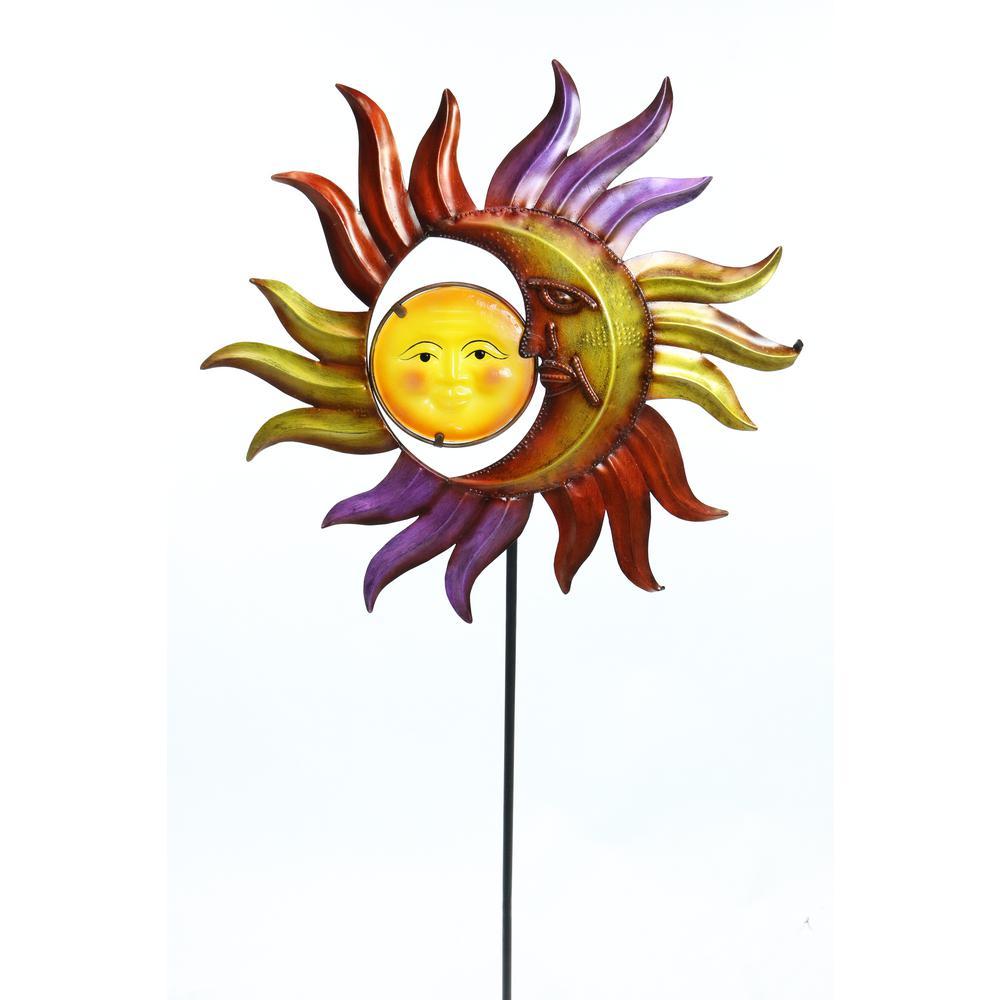 Sun and Moon Garden Stake