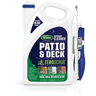128 oz. Deck Cleaner and Outdoor Patio with ZeroScrub Technology and Extended-Reach Wand