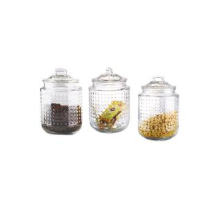 3-Piece Dott 40.5 oz. Glass Canister