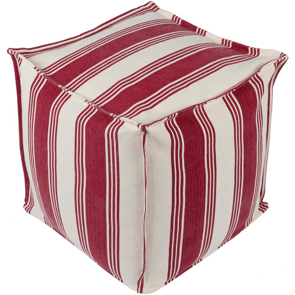 Artistic Weavers Gavril Red Accent Pouf
