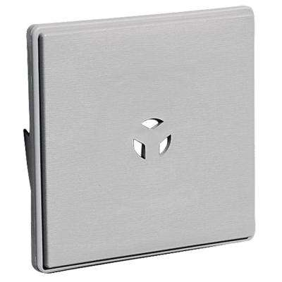 6.625 in. x 6.625 in. #016 Gray Dutch Lap Surface Mounting Block