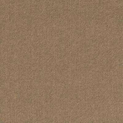 Peel and Stick First Impressions Chestnut Ribbed Texture 24 in. x 24 in. Commercial Carpet Tile (15-tile / case)