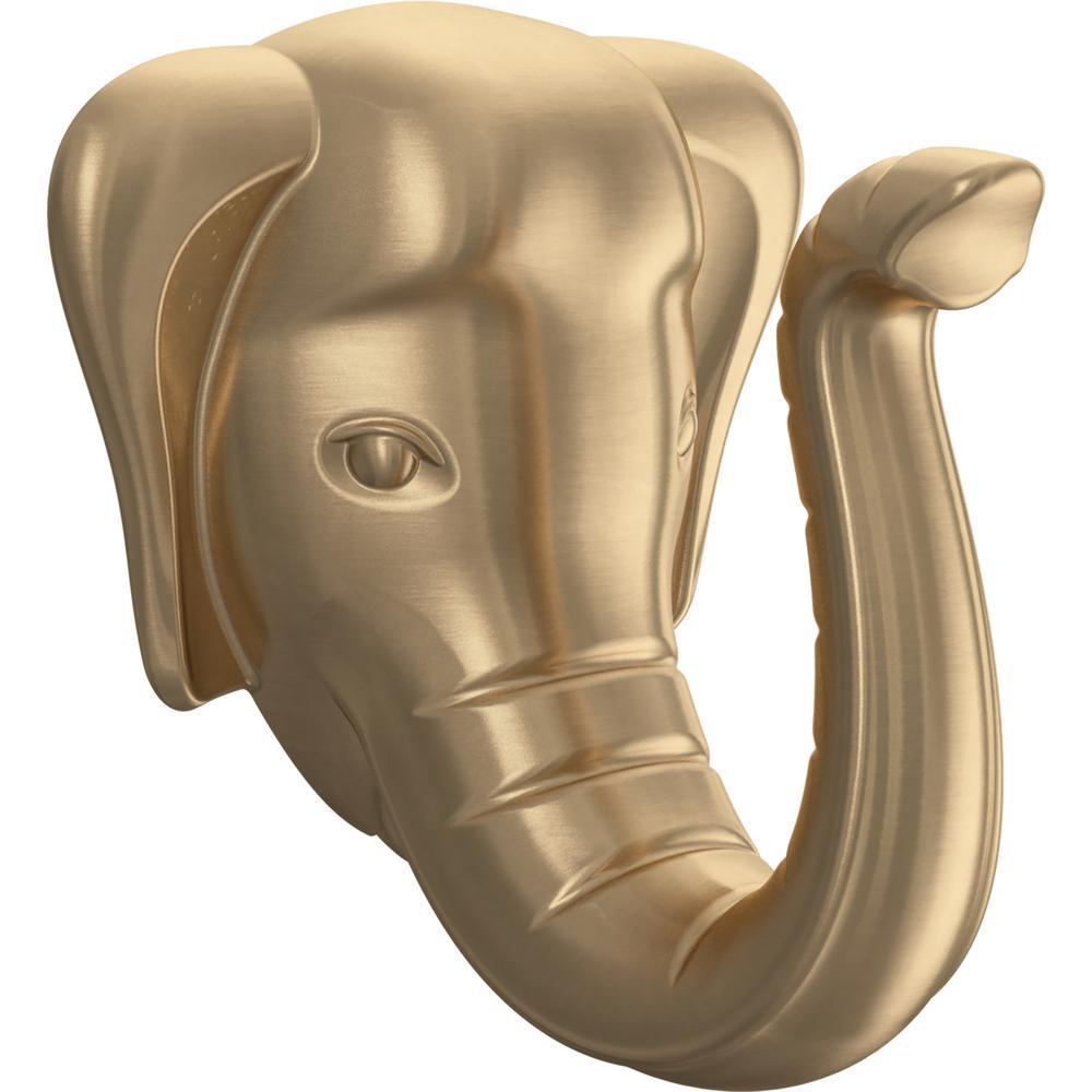 2.88 in. Champagne Bronze Elephant Hook