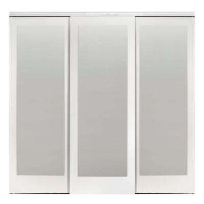 Wood 3 Panel Sliding Doors Interior Closet Doors The Home