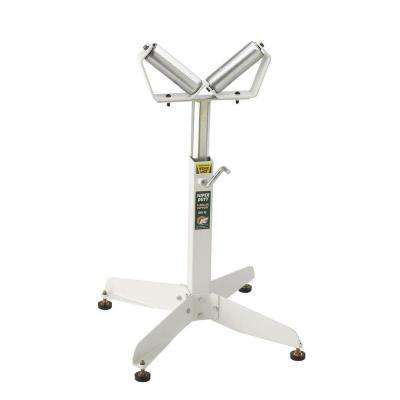 Heavy Duty 22 in. x 32 in. Adjustable V-Roller Pipe Stand
