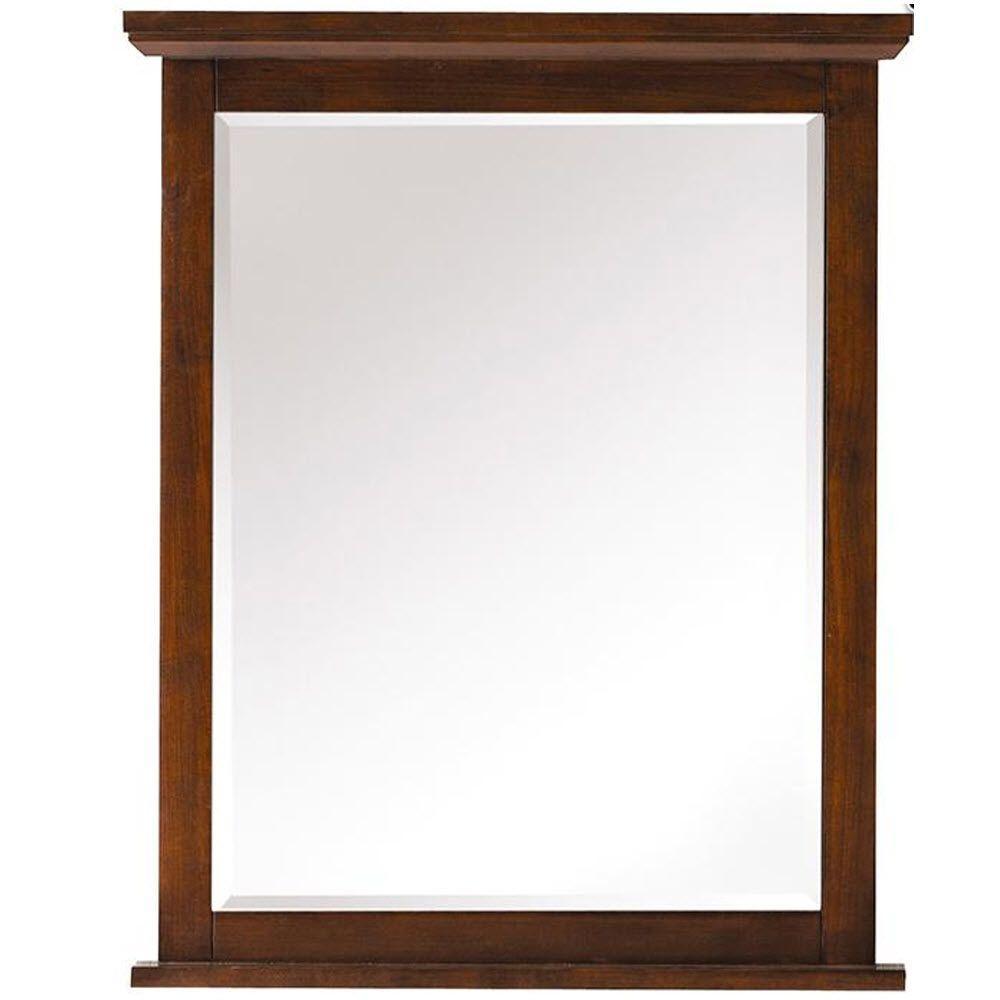 Austell 26 in. x 32 in. Framed Wall Mirror in Espresso