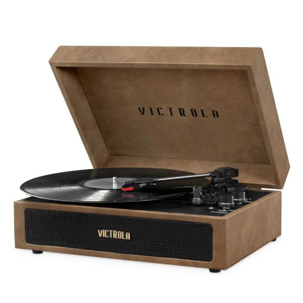 Parker Bluetooth Suitcase Record Player with 3-Speed Turntable