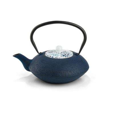 40 fl. oz. Dark Blue Yantai Teapot
