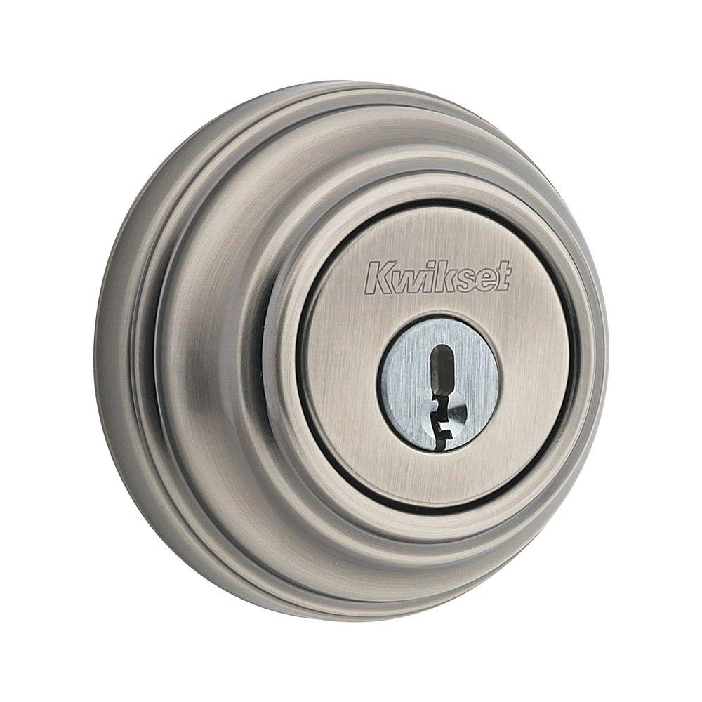 Kwikset 984 Series Antique Nickel Double Cylinder Ul Rated