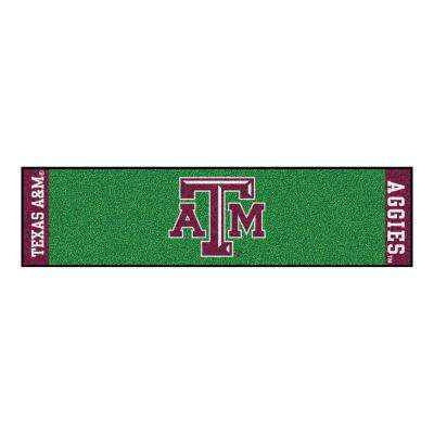 NCAA Texas A&M University 1 ft. 6 in. x 6 ft. Indoor 1-Hole Golf Practice Putting Green