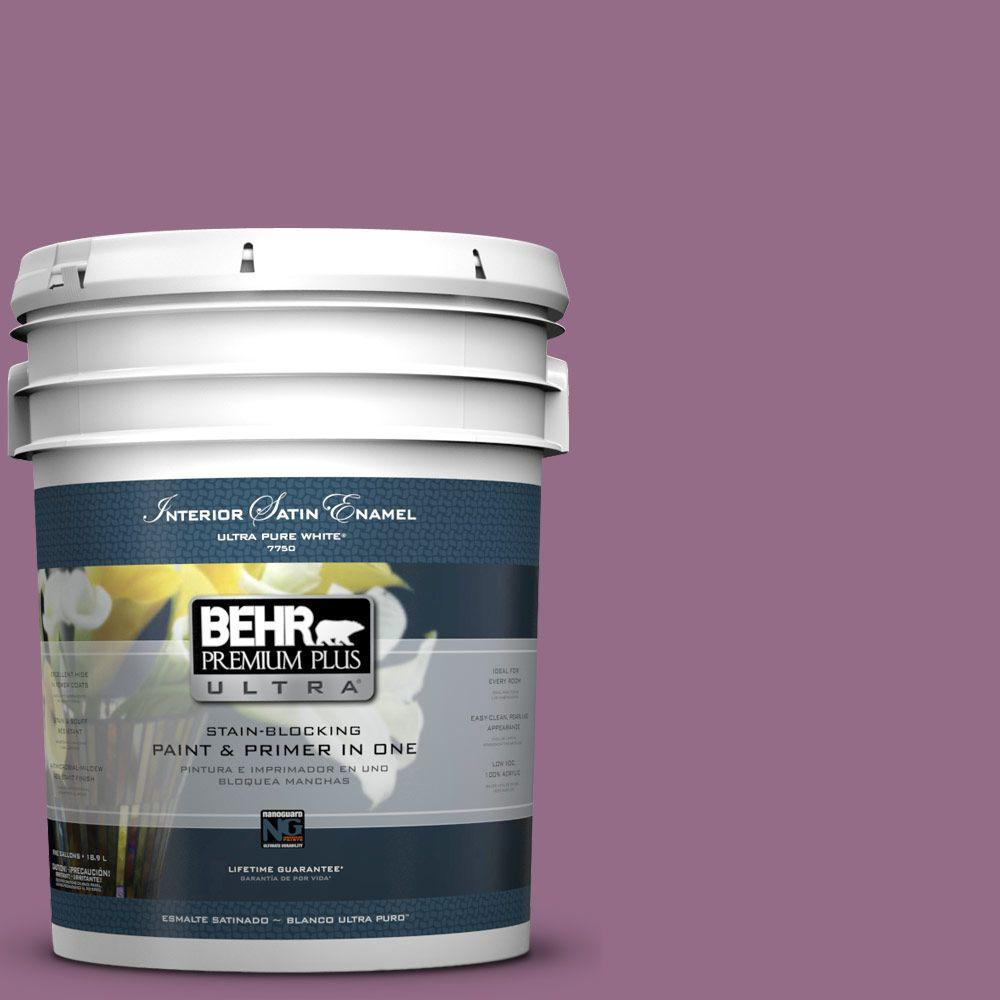 5-gal. #M110-6 Sophisticated Lilac Satin Enamel Interior Paint