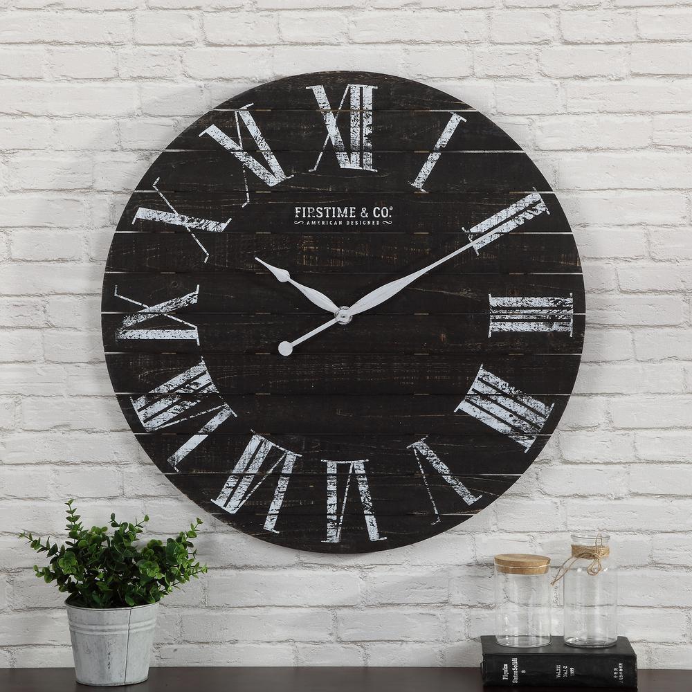 29 in. Midnight Shiplap Clock