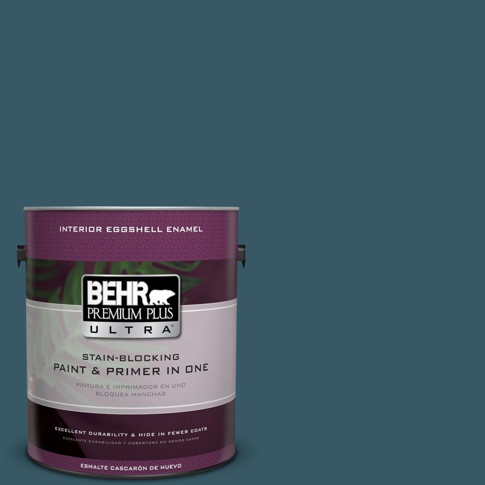 BEHR Premium Plus Ultra 1-gal. #S460-7 Deep Breath Eggshell Enamel Interior Paint