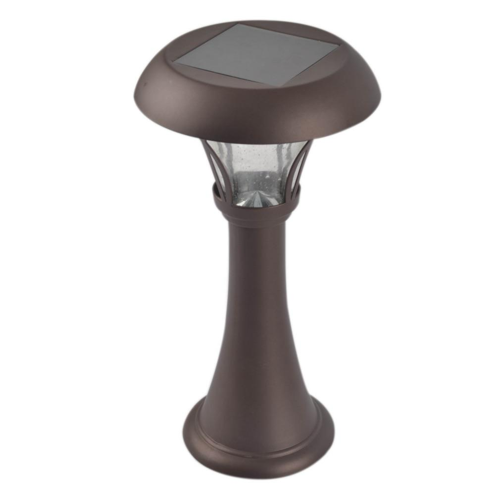 13 In Bronze Outdoor Solar Table Lamp Scl 99e1m Br The Home Depot