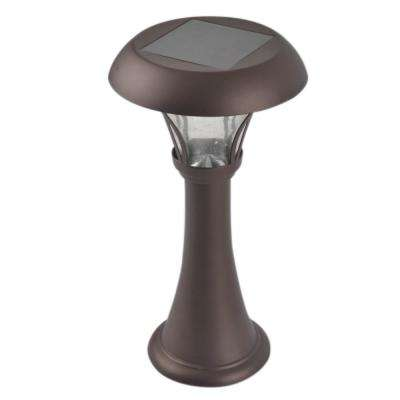 13 in. Bronze Outdoor Solar Table Lamp