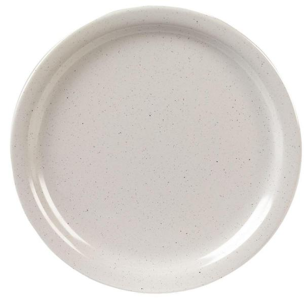 Carlisle 9 in. Diameter, 0.77 in. H Melamine Dinner Plate in Adobe (Case of 48)