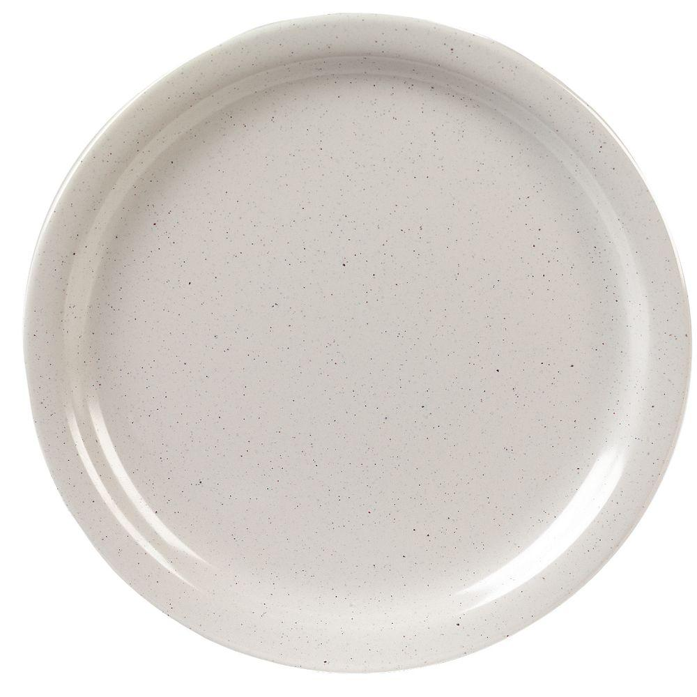 9 in. Diameter, 0.77 in. H Melamine Dinner Plate in Adobe