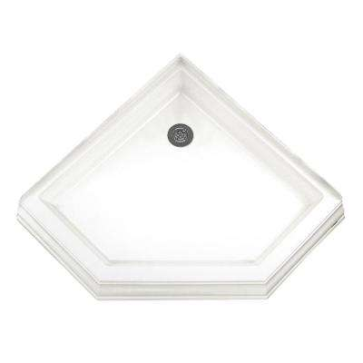 Town Square 38 in. x 38 in. Neo Angle Shower Base in White