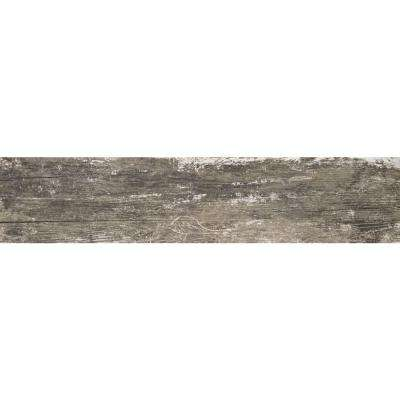 Vintage Silver 8 in. x 36 in. Glazed Porcelain Floor and Wall Tile (14 sq. ft. / case)