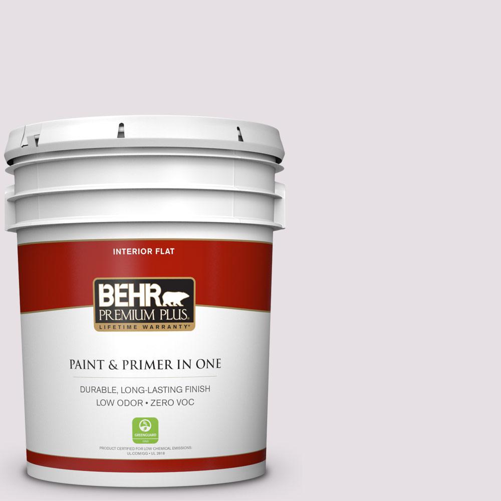BEHR Premium Plus 5-gal. #670E-2 Pearl Violet Zero VOC Flat Interior Paint