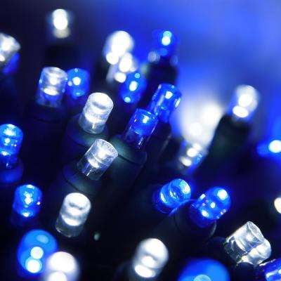 24 ft. 70-Light Blue and Cool White 5 mm LED Mini Light Set