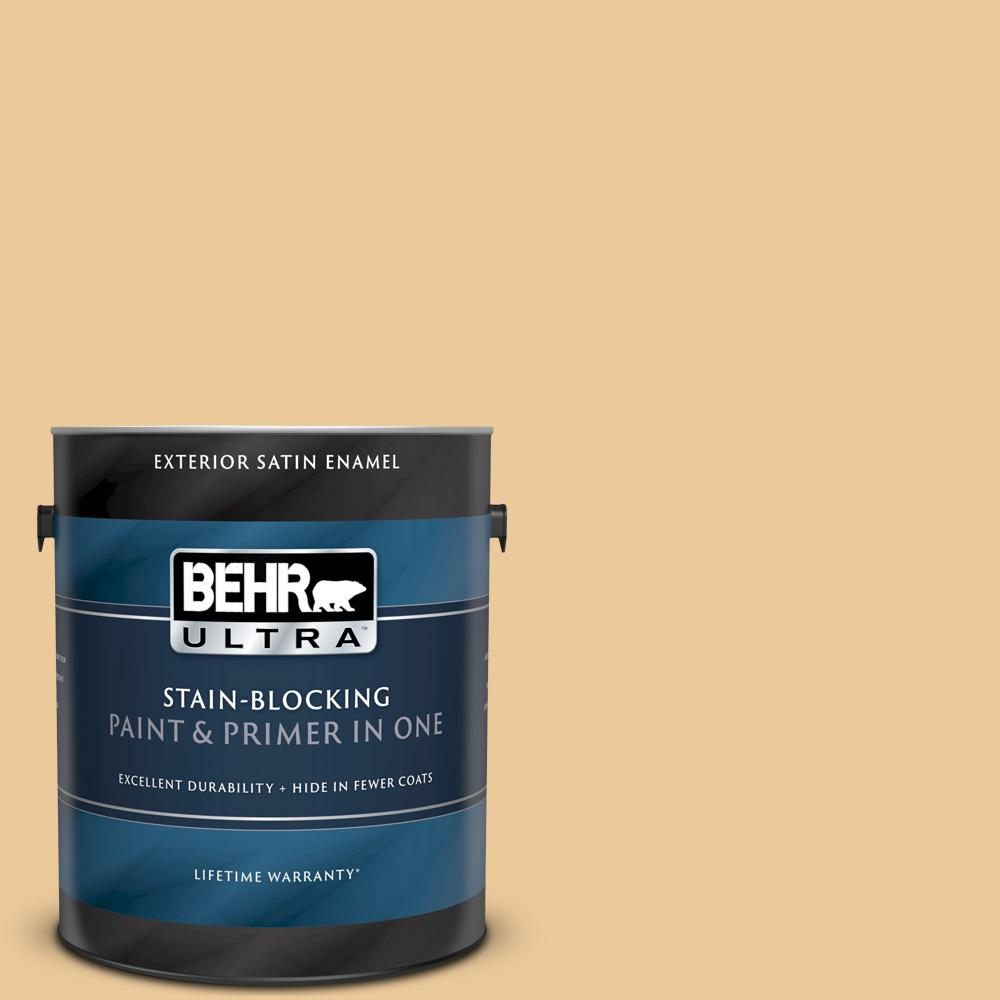 Behr Ultra 1 Gal M270 4 Filtered Moon Satin Enamel Exterior Paint And Primer In One 985401 The Home Depot