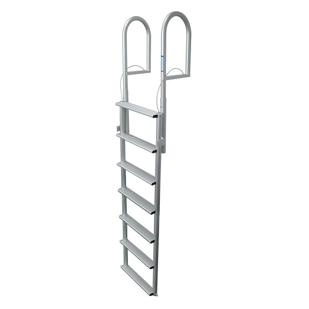 7 Rung Step Wide Lifting Aluminum Ladder