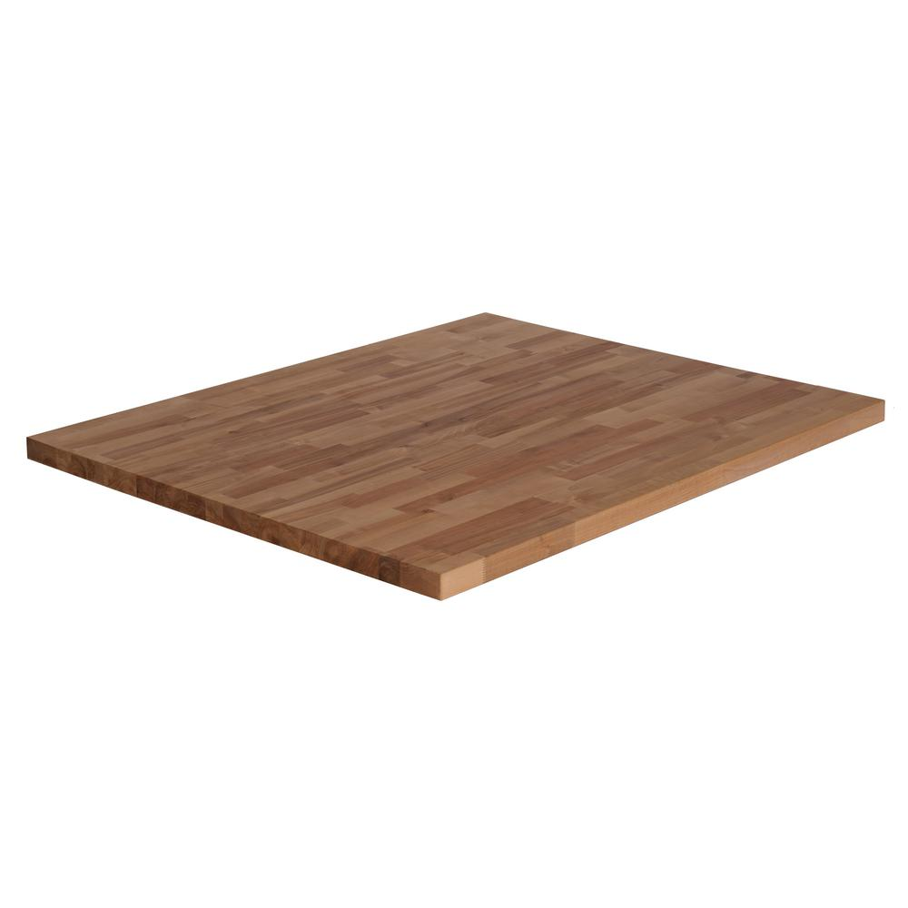 Inx in wood butcher block countertop