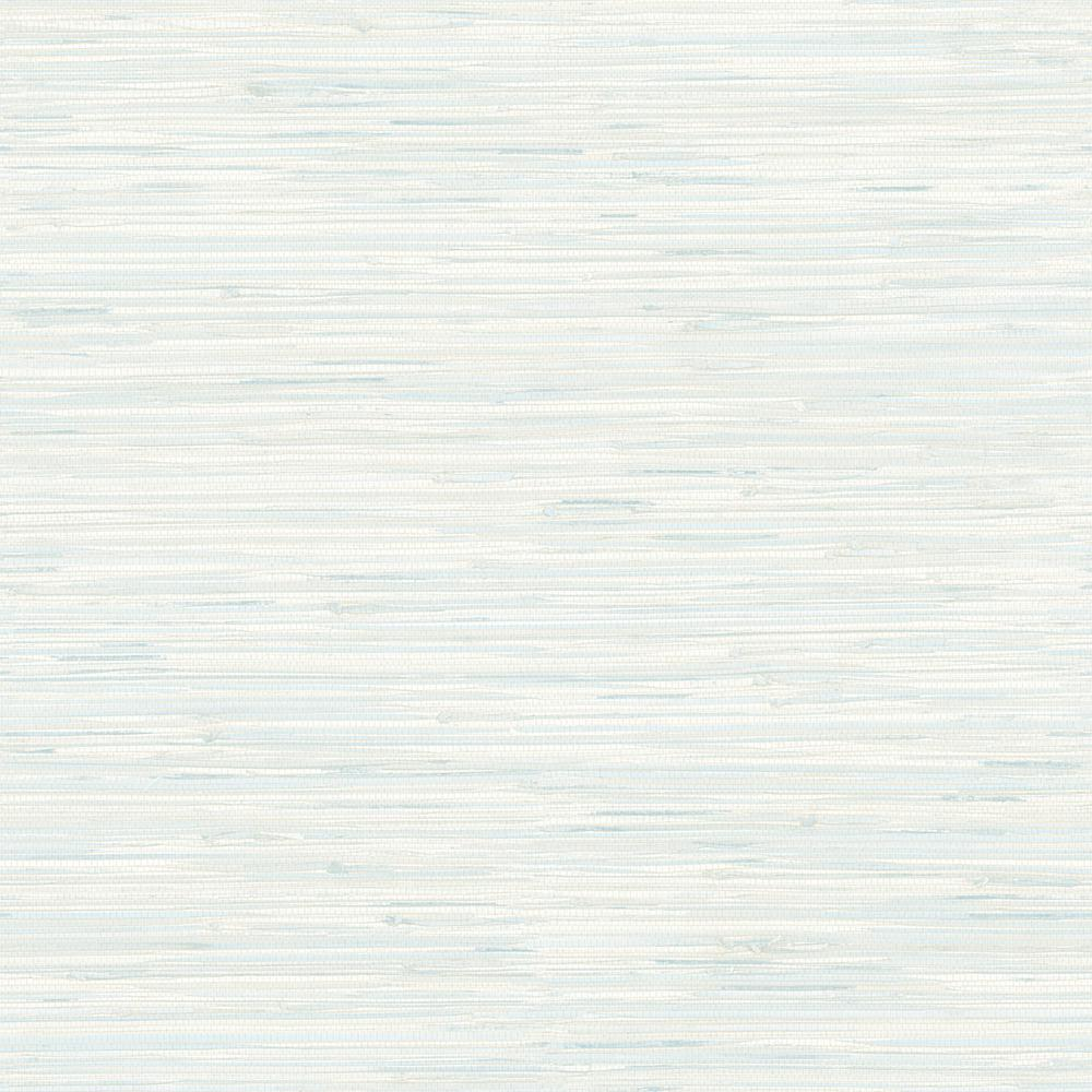 White Grasscloth Wallpaper: Brewster Natalie Light Blue Faux Grasscloth Wallpaper-2704