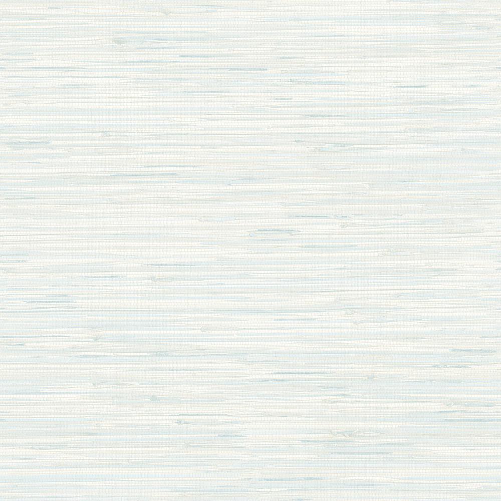 Grasscloth Wallpaper Samples: Brewster Natalie Light Blue Faux Grasscloth Wallpaper