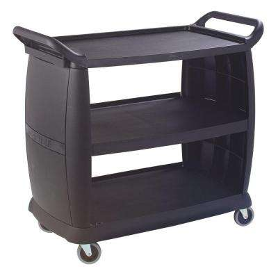 42 in. x 23 in. x 38 in. Black Large Bussing and Transport Cart
