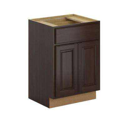 Madison Assembled 24x34.5x21 in. Base Bathroom Vanity Cabinet in Java
