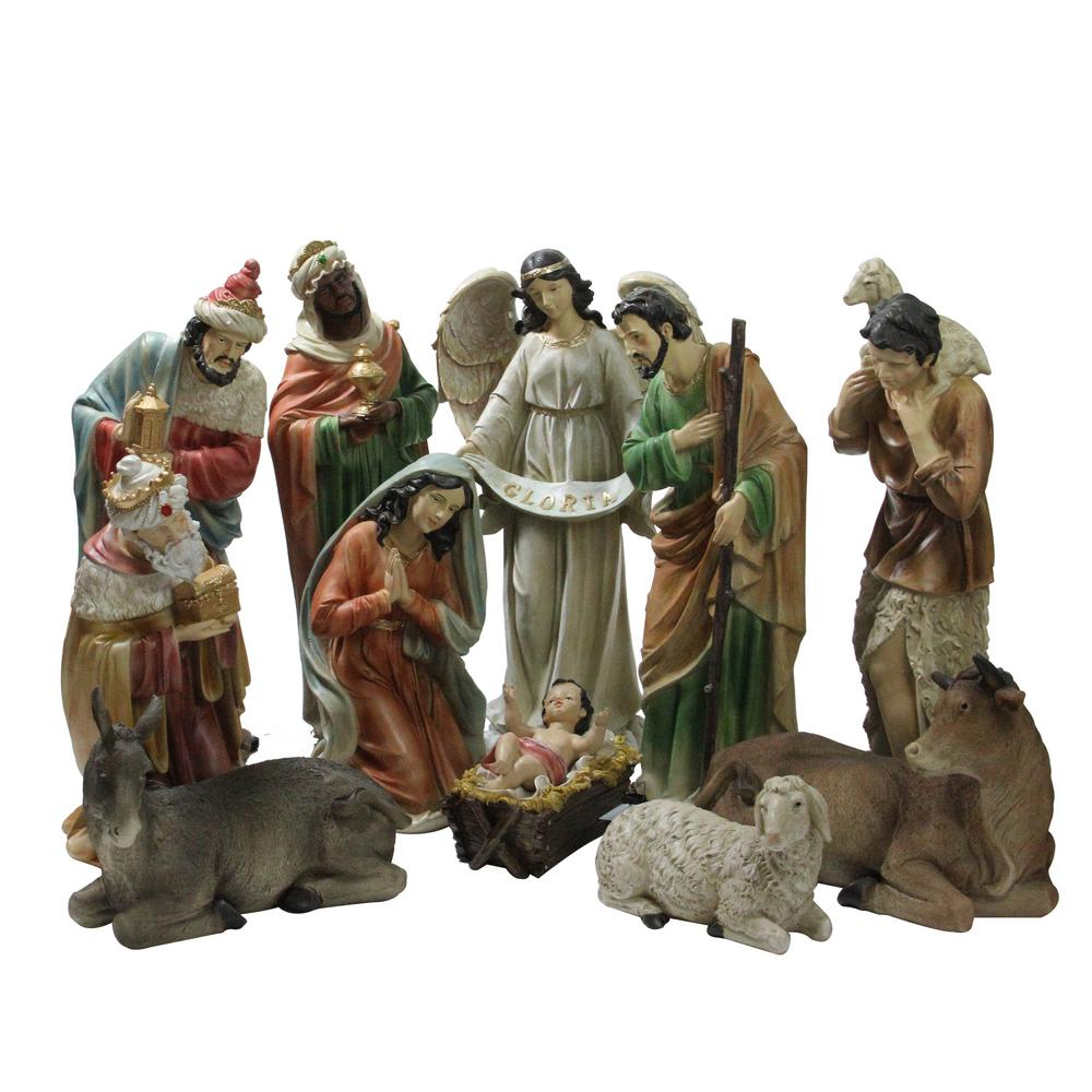 Religious Christmas Images.Northlight 22 75 In Large Tranquil Religious Christmas Nativity Set 11 Piece