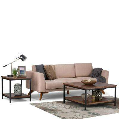 Skyler Dark Cognac Brown Coffee Table