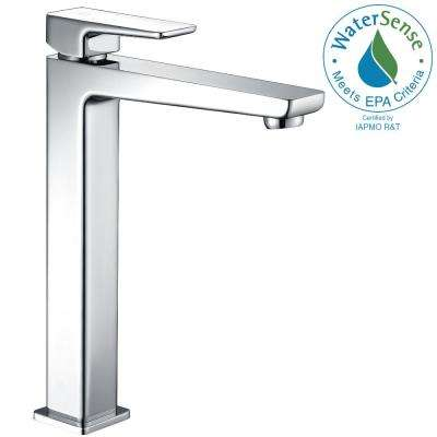 Valor Single Hole Single-Handle Bathroom Faucet in Polished Chrome