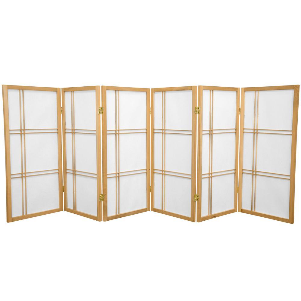 3 ft. Natural 6-Panel Room Divider