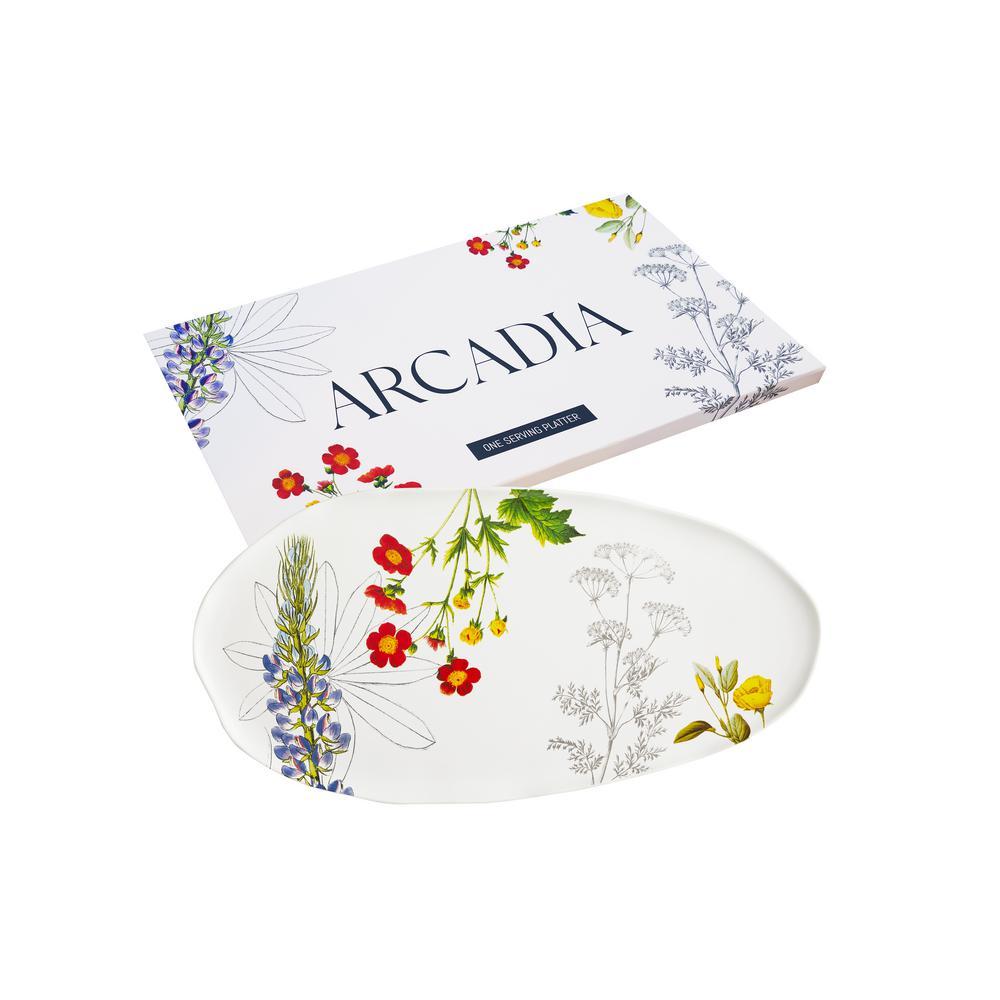 Arcadia 18 in. x 9 in. Ceramic Platter