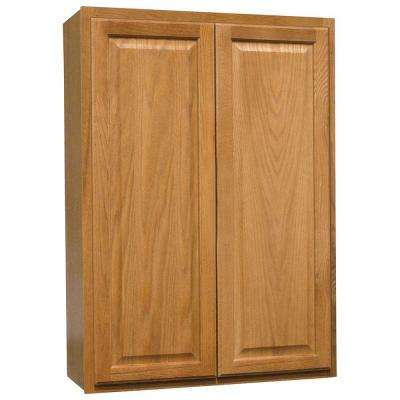 Hampton Assembled 30x42x12 in. Wall Kitchen Cabinet in Medium Oak