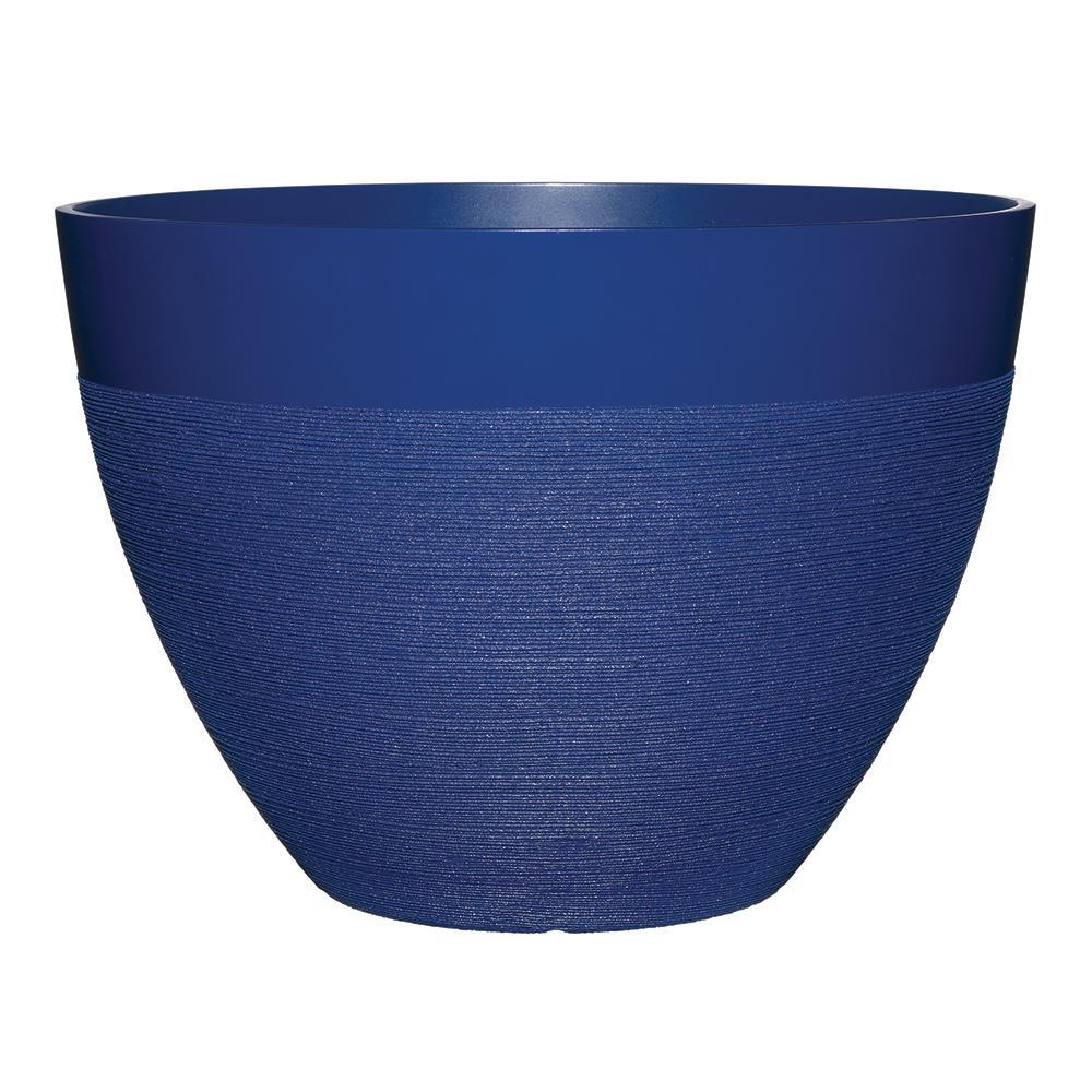 Decatur 20 in. Sapphire Blue Resin Planter
